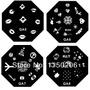 Placas Hexagonais Para Carimbo De Unhas - 10 Unidades