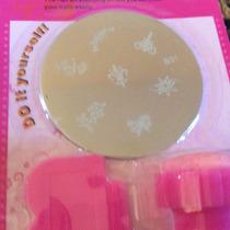 1 Kit Stamping Nail Art Carimbo Unhas C Espátula E Aplicador