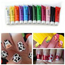 Tinta Nail Art Acrílica Oumaxi 12 Unidades