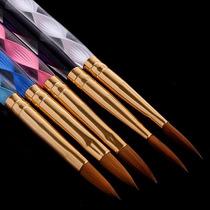 5 Pincel Tam. 4# 6# 8# 10# 12# Unha Gel-profissional +brinde