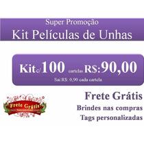 Kit Revenda 100 Cartelas Películas De Unhas Em Gel + Brindes