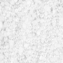 Meia Pérola Brancas Para Decoração De Unhas 2,0 Mm -100 Unid