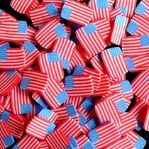 Fatias De Fimo Decoração De Unhas Bandeira Eua Nail Art