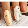 Nail Art Anel P/ Unha Cor Ouro + Esmalte + Brinde 3d Pra Vc!