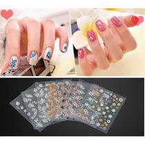 50pcs 3d Nail Art Sticker Decalques Água Decoração Nails