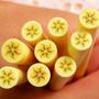 Fatias De Fimo Para Decoração De Unhas Fruta Banana Nail Art