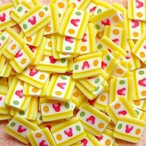 Fatias De Fimo Decoração De Unhas Mini Torta De Frutas Nail