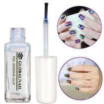 Bling Falso Nail Art Falso Glue Gel Foil Etiqueta Adesiva Tr
