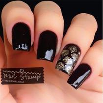 Nail Stamp Zig Zag Vários Modelos Nail Arts Unhas Decoradas