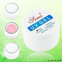 1 X Pote Gel Lina Uv 14 Gramas 1/2 Oz, Pink