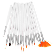 Kit Pincel Estojo Profissional Unha Gel Art C/15 Pinceis