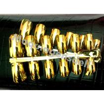 Unhas Cromada Douradas Ou Prateadas Postiças 36 Unhas