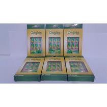 Unhas Postiças Ongles Verde E Amarelo Kit 6 Caixas C 24 Unha