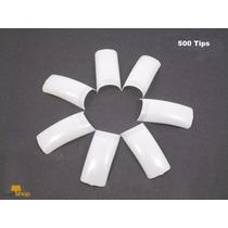 Tip Unha Postica Sorriso Natural 500unid Gel Porcelana.