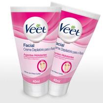 Kit Veet Creme Depilatório Facial 40 Ml 2 Unidades