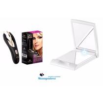Espelho C/ Iluminação + Depilador Pinça Ana Hickmann Com Led
