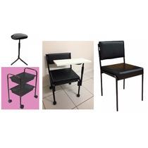 Cirandinha Manicure + Cadeira Cliente + Carrinho + Tripe