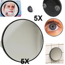 Barbear Espelho Aumento 5x Antiembaçante + Ventosa Brinde +1