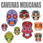 Vetor Estampas Caveiras Mexicanas Silk Transfer Shorts