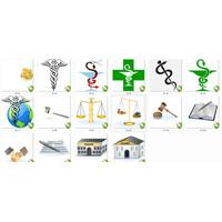 Vetores E Imagens Símbolos Profissão,farmácia,advocacia. Etc