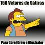 Vetores De Sátiras Engraçadas Para Corel Draw E Illustrator