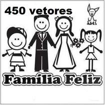 450 Vetores Da Família Feliz Para Corel Draw, Envio Imediato