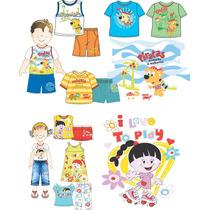 500 Estampas Infantis Vetorizadas Corel Vetor Serigrafia
