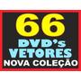 Gráfica Completa - 66 Dvds Vetores Imagens Corel Impressão