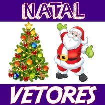 Vetores Natalinas Estampas Natal Papai Noel + 5.300 Vetores