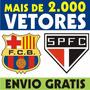 Vetor Times Futebol Escudos Clubes Brasões Arte Cdr Convites