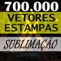 Kit 50 Mil Estampas Sublimação Camiseta Caneca Chinelo Vetor