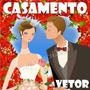 Vetor Casamento Noiva Convite Corel Plotter Adesivo Noivo
