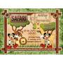 Criação Layout Arte Final Lembrancinha Convite Mickey Safari
