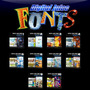 Coleção Digital Juice Fonts Completa