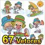 67 Vetores Patati Patatá + Brinde - Frete Grátis, Corel Draw