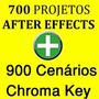 700 Projetos After Effects + 900 Cenários Chroma Key Croma