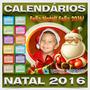 Calendários 2016 Natal Molduras Digitais Artes Png + Brindes