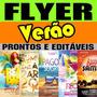 Power Flyer Folder Verão Reveillon Arte Pronta E Editável.
