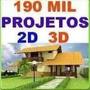 195mil Projetos Residenciais Plantabaixa Autocad