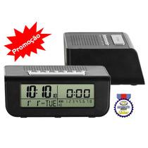 8111 Rádio Relógio Despertador Digital Luz Alarme Calendário