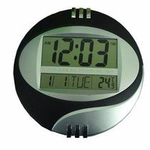 Relógio Cabeceira E Parede Redondo Digital 4 Funções Em 1