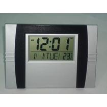 Relógio De Parede E Mesa Digital Termometro E Despertador