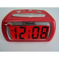 2916 - Relógio Despertador Digital Luz Led Vermelho