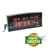 Relógio Despertador Digital De Mesa Em Led Termometro Calend