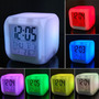 Relogio Digital 7 Cores Mudando, Termômetro, Despertador