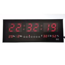 Relógio Led Digital Gigante Painel Data Temperatura Academia