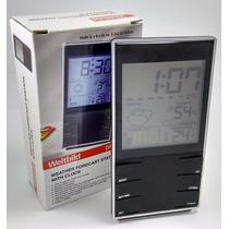 Relógio Despertador Digital Termometro Umidade Mesa E Parede