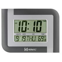 Relógio Digital Mesa Parede Herweg 6404 Alarme Calendario