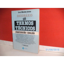 Livro Dicionário De Termos Técnicos Português-inglês 3ª Ediç
