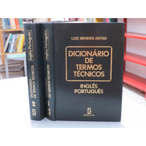 Dicionário Termos Técnicos Luiz Mendes Antas Inglês Portugue